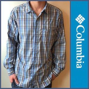Columbia Omni-Wick Blue Vented Fishing Shirt